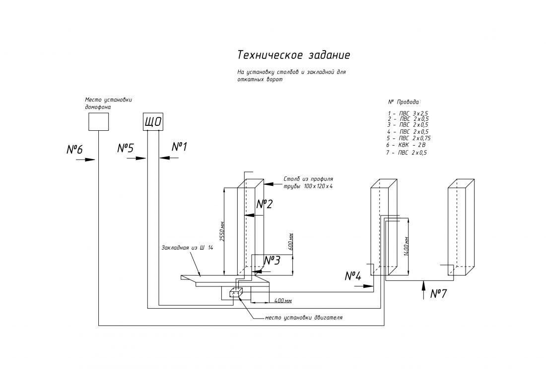 Электрическая схема для откатных ворот своими руками 2